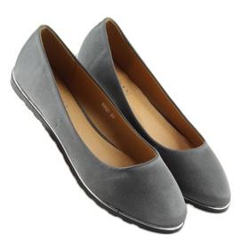 Satin gray ballerinas A8621 gray grey 1