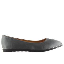 Satin gray ballerinas A8621 gray grey 6