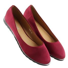 Satin maroon ballerinas A8621 red 1
