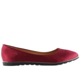 Satin maroon ballerinas A8621 red 6