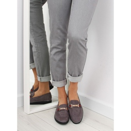 Women's loafers gray gray S0-204 gray grey 1