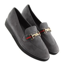 Women's loafers gray gray S0-204 gray grey 3