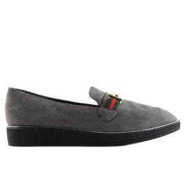 Women's loafers gray gray S0-204 gray grey 2