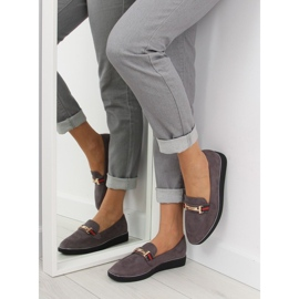 Women's loafers gray gray S0-204 gray grey 4