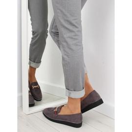 Women's loafers gray gray S0-204 gray grey 6