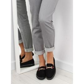 Women's loafers black S0-204 black 1