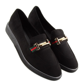 Women's loafers black S0-204 black 3