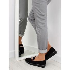 Women's loafers black S0-204 black 6