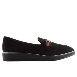Women's loafers black S0-204 black 2
