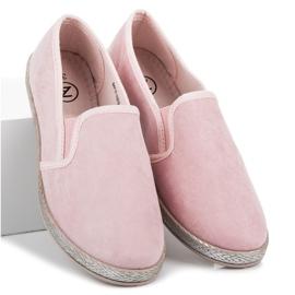Mckeylor Suede espadrilles slip on pink 2