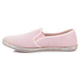 Mckeylor Suede espadrilles slip on pink 1