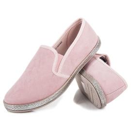 Mckeylor Suede espadrilles slip on pink 3
