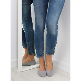 Women's ballet shoes soft gray D.GREY 3