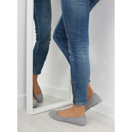 Women's ballet shoes soft gray D.GREY 2