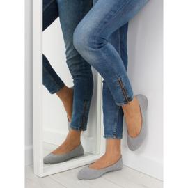 Women's ballet shoes soft gray D.GREY 4