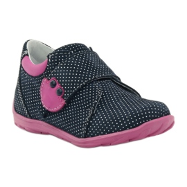 Girls' shoe with dots Ren But 1476 navy pink blue white 1