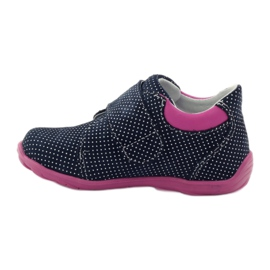 Girls' shoe with dots Ren But 1476 navy pink blue white 2