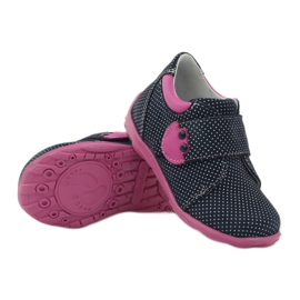 Girls' shoe with dots Ren But 1476 navy pink blue white 3