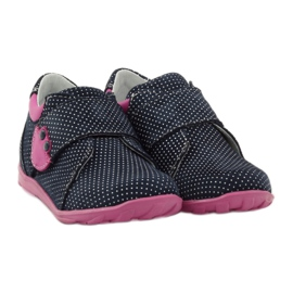 Girls' shoe with dots Ren But 1476 navy pink blue white 4