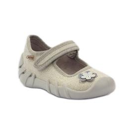 Befado children's shoes ballerinas slippers 109p163 brown grey yellow 1