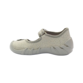 Befado children's shoes ballerinas slippers 109p163 brown grey yellow 2