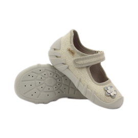 Befado children's shoes ballerinas slippers 109p163 brown grey yellow 3