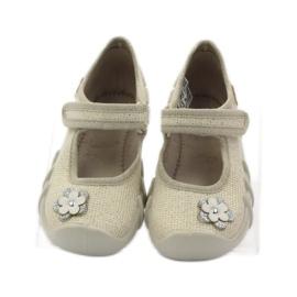 Befado children's shoes ballerinas slippers 109p163 brown grey yellow 4
