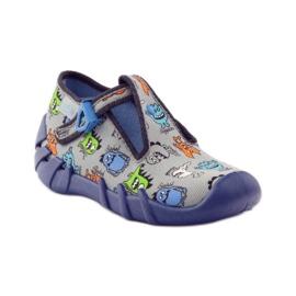 Slippers boys Befado 110p308 grey blue 1