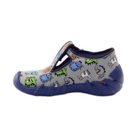 Slippers boys Befado 110p308 grey blue 2