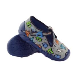 Slippers boys Befado 110p308 grey blue 3