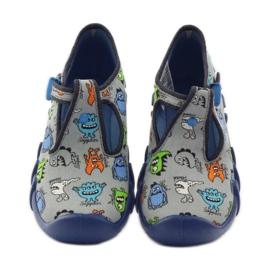 Slippers boys Befado 110p308 grey blue 4