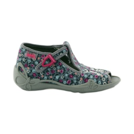 Slippers two female Befado 213p099 gray pink grey 1