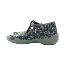 Slippers two female Befado 213p099 gray pink grey 3