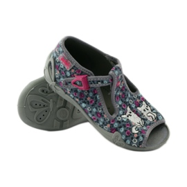 Slippers two female Befado 213p099 gray pink grey 4