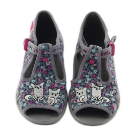Slippers two female Befado 213p099 gray pink grey 5