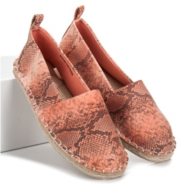 Mckeylor Espadrilles with an animal pattern pink 2
