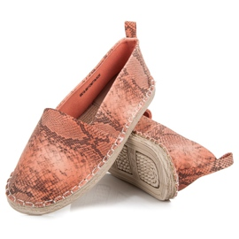 Mckeylor Espadrilles with an animal pattern pink 3
