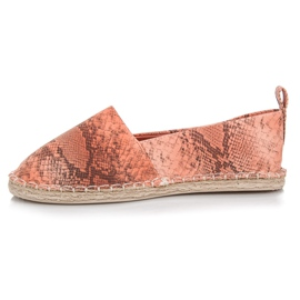 Mckeylor Espadrilles with an animal pattern pink 1
