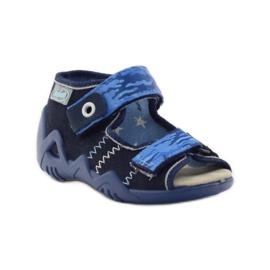Sandals Befado 250p leather insert navy blue 1
