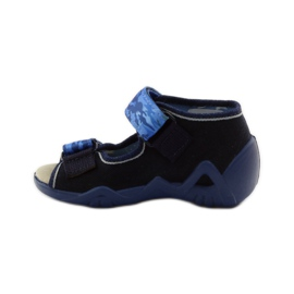 Sandals Befado 250p leather insert navy blue 2