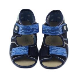 Sandals Befado 250p leather insert navy blue 4