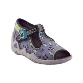 Slippers chasers Befado 217p092 green grey black white 1