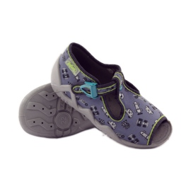 Slippers chasers Befado 217p092 green grey black white 3