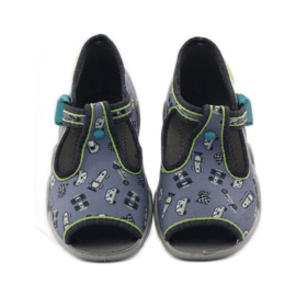 Slippers chasers Befado 217p092 green grey black white 4