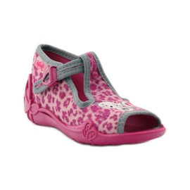 Panther slippers Befado 213P100 kitty roses pink 1