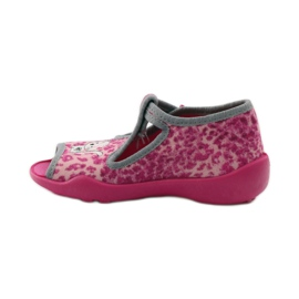 Panther slippers Befado 213P100 kitty roses pink 2