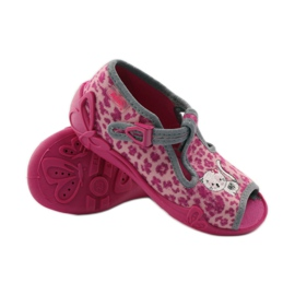 Panther slippers Befado 213P100 kitty roses pink 3