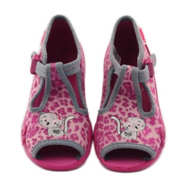 Panther slippers Befado 213P100 kitty roses pink 4