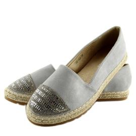 Espadrilles gray H8-102 silver grey 1