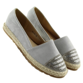 Espadrilles gray H8-102 silver grey 2